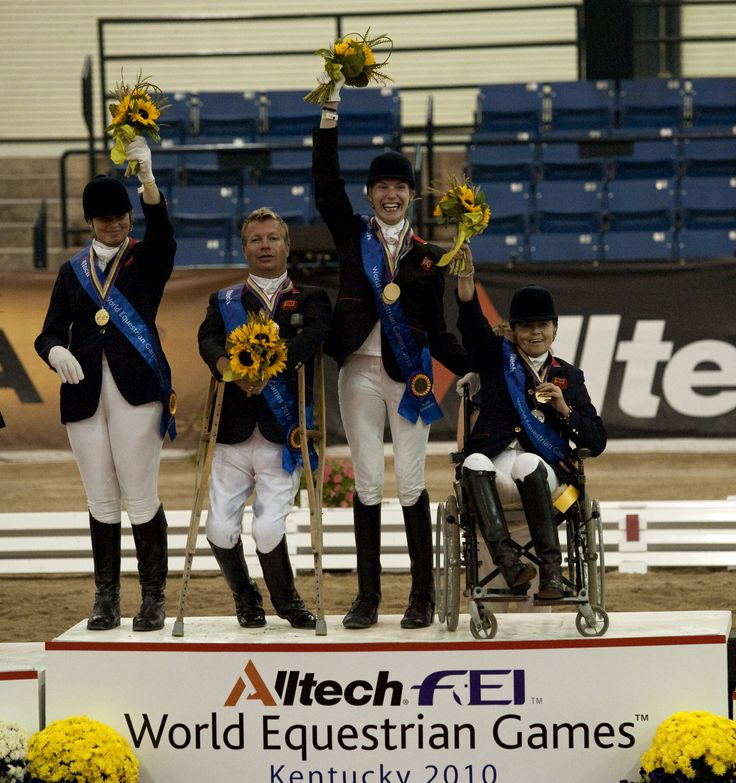 The Great Britain Para-Dressage team, gold medalist in 2010 in Lexington ©FEI/Kit Houghton