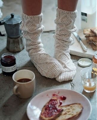 Swoon, drool . . . can't stop thinking about these Aran Socks by Madeline Weston, pattern found in Country Weekend Socks published by St. Martin's Griffin, Macmillan Publishers