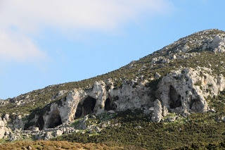 Rock formation and caves in the Askopetra-Pyli area overlooking the church of St George , on the island of Kos in Greece:  http://www.discoveringkos.com/2013/05/rock-formation-and-caves-in-askopetra.html