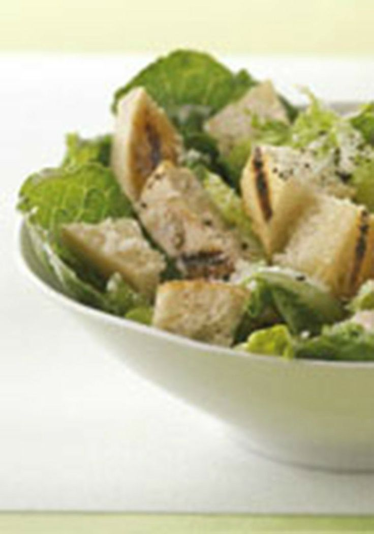 Favorite Grilled Chicken Caesar Salad — There is a reason this recipe is a favorite. Grilled chicken, croutons, shredded Parmesan, Caesar dressing, and ready for the dinner table in just 15 minutes.