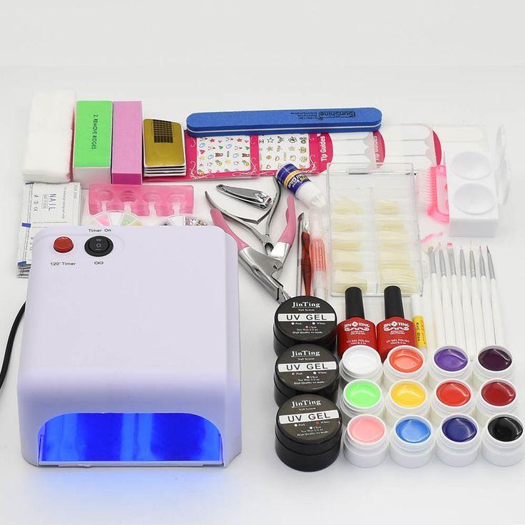 Nail Set 36W UV led nail Lamp 12 Colors UV Gel varnish Long-lasting Nail Polish manicure tools Nail Art decoration Tool Kits