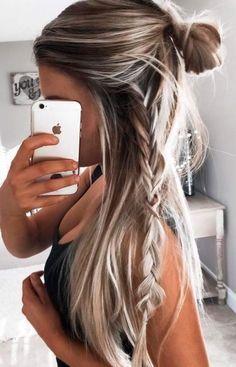 Leichte Frisuren für Lange Haare 2017. Flechtfrisuren und andere Haarstylings.