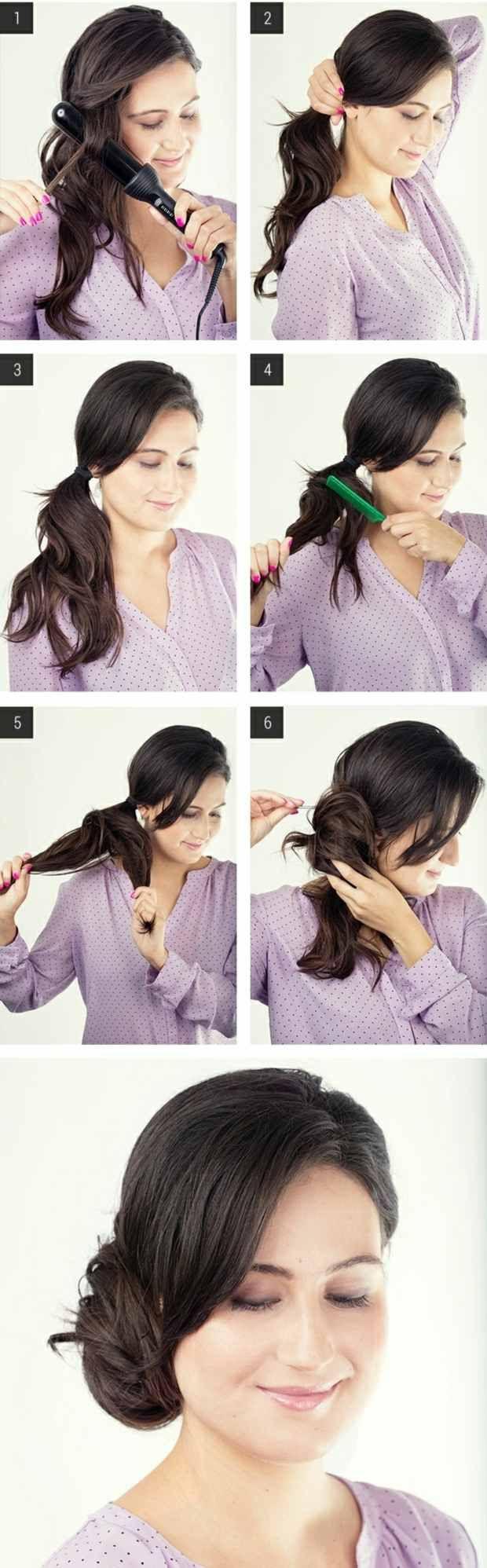 Frisur seitlicher dutt anleitung