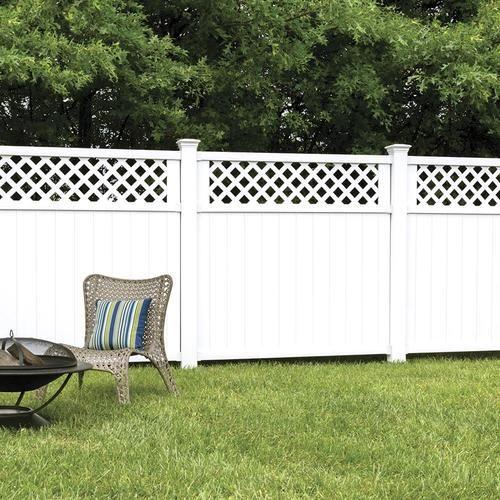 Snapfence 2 Ft 7 5 In X 4 Ft W White Modular Vinyl Lattice Fence Panel 4 Pack Vflp 1 The Home Depot Lattice Fence Panels Lattice Fence Fence Design