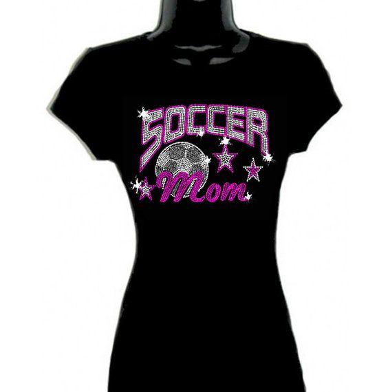DFWBLING soccer mom rhinestone shirt. by DFWbling on Etsy, $21.00
