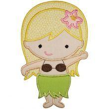 would make a super cute hula girl cake