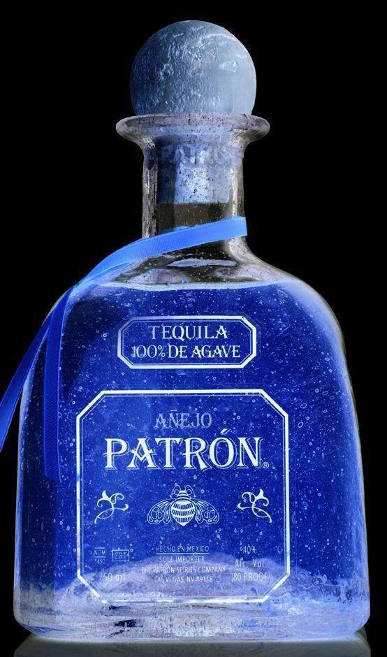Ice Blue rendition of Patrón Silver #Patron #PatronOnPinterest