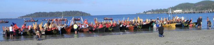 Salish Sea Tribal Canoe Journey  2012 is to Squaxin Island, WA - Huge feast!