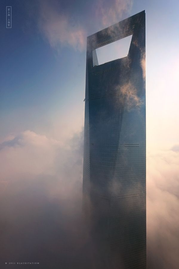 The Sky City | The Shanghai World Financial Center is a 492 m (1,614 ft) high skyscraper in Shanghai, China. It has 101 storeys and is currently the third tallest building in the world. |