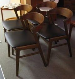 four breakfast chairs at Hawthorne Vintage