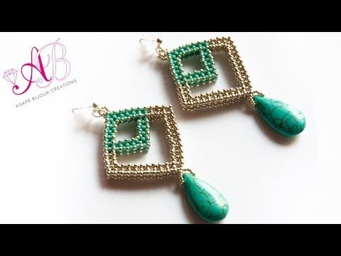 ▶ Video Creations # 29: Raw earrings, bracelets Celtic knot butterfly superduo - YouTube