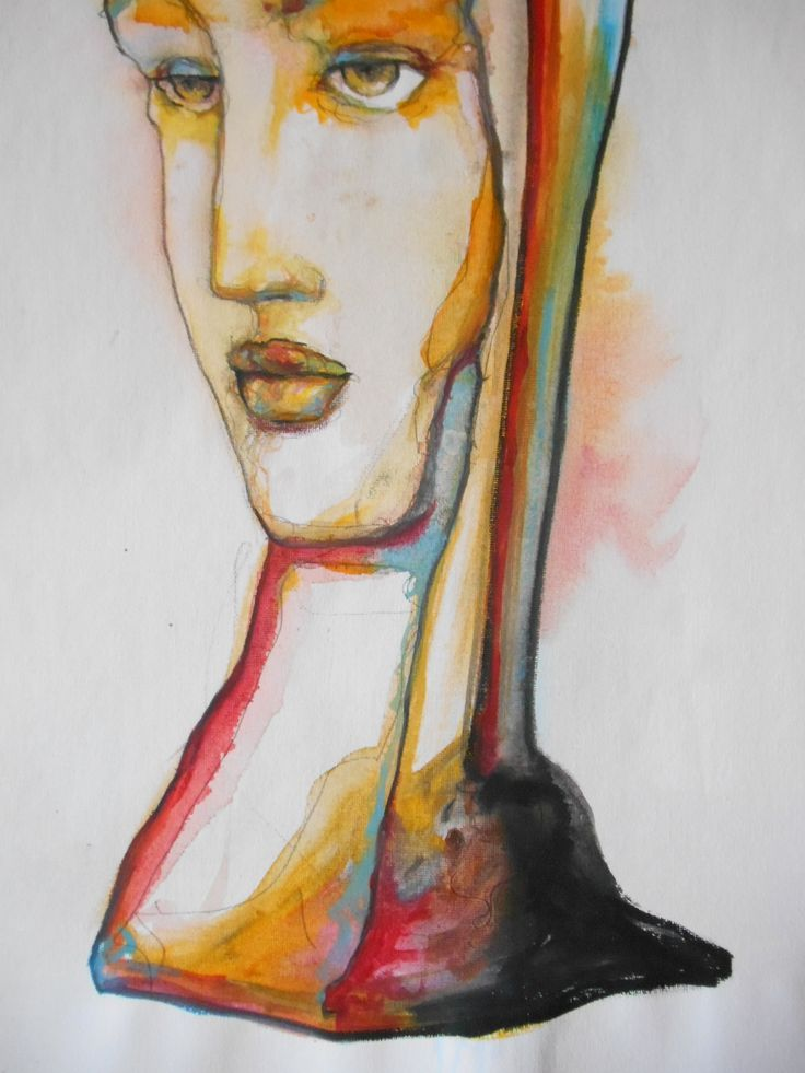 Dettaglio di dipinto su tela, tecnica mista acquerelli e acrilici, di Maurizio Scorza  (2016), in vendita su ETSY https://www.etsy.com/shop/ScorzaArte