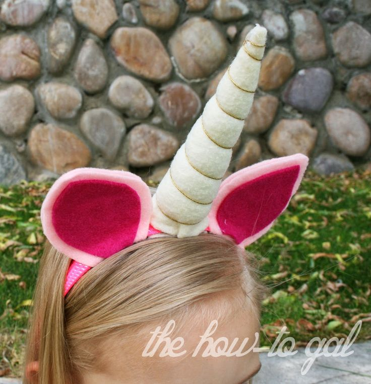 Click here for a Unicorn Horn Headband Tutorial!