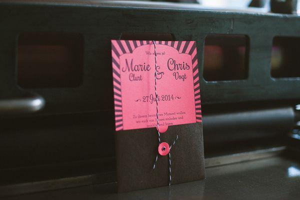 poule folle, wedding invite, Hochzeitseinladung