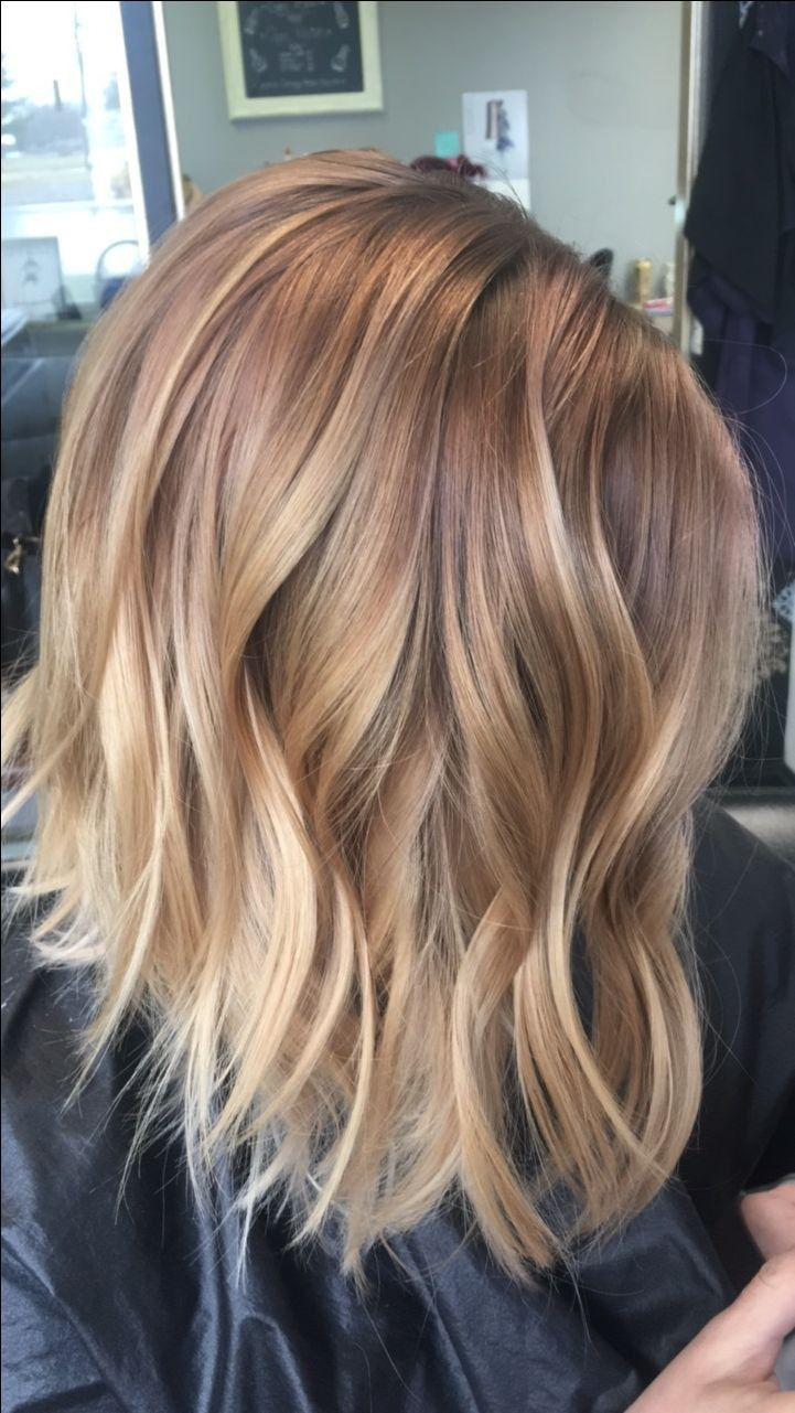 Perfect Honey Blonde Balayage Hair Color Full Head Of