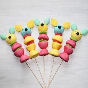 Brochette de bonbons souris