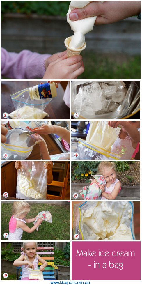 homemade plastic baggy ice cream How to make vanilla ice cream made it serve immediately or place a piece of plastic wrap directly on the ice cream and place in first homemade ice cream.