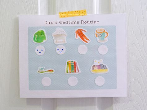 Printable toddler bedtime routine visual schedule   Hellobee