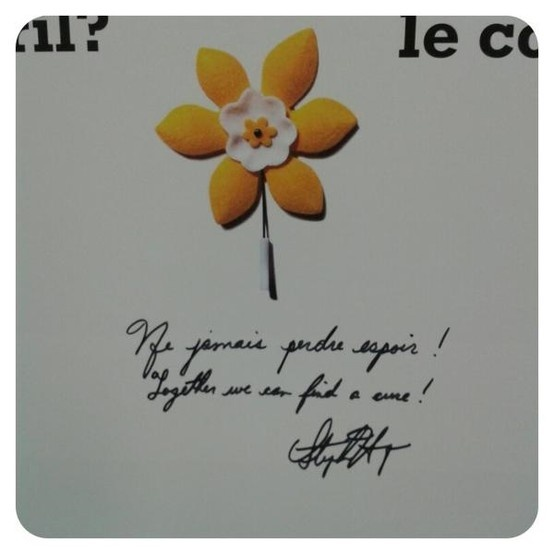 Prime Minister Stephen Harper signed our #DaffoHillDay board and included a few words of inspiration ...