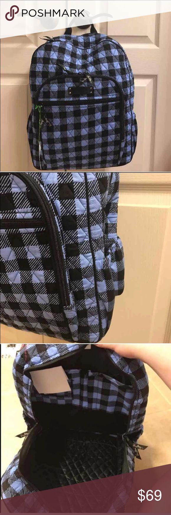 NWT Vera Bradley alpine check Campus backpack NWT Vera Bradley alpine check Campus backpack Vera Bradley Bags Backpacks