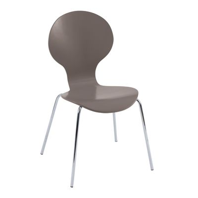 dwell - Curved wood dining chair stone - £39