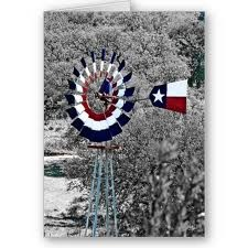 Who else would paint their windmill with the Texas flag motif  ;-)
