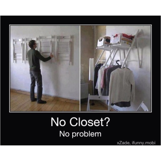 No Closet No Problem For The Home Pinterest No: no closet hanging solutions