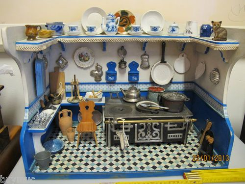 84 best mini kitchens stores and food images on pinterest antique toys miniatures and old. Black Bedroom Furniture Sets. Home Design Ideas