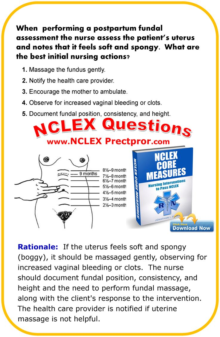 NCLEX Questions and Nursing RN interventions for Fundus