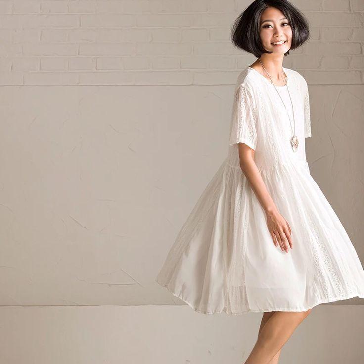 Angels white linen dresses