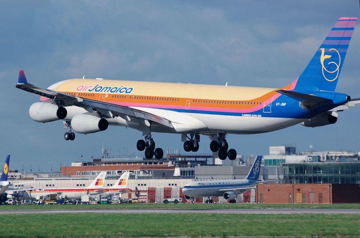 Air Jamaica  http://www.carltonleisure.com/travel/flights/first-class/jamaica/