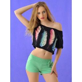Pantalon Mujer Corto Verde Online PA174