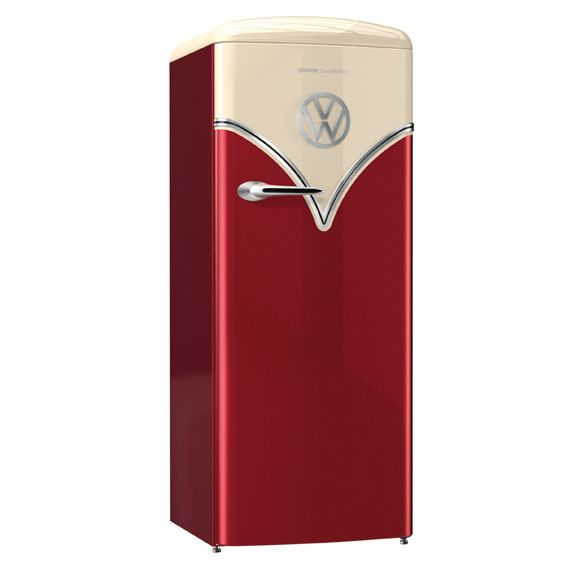 The Stylish Gorenje Obrb153 Retro Refrigerator Inspired By The Popular 1960 S Volkswagen T1 Van Special E Retro Refrigerator Modern Refrigerators Retro Fridge