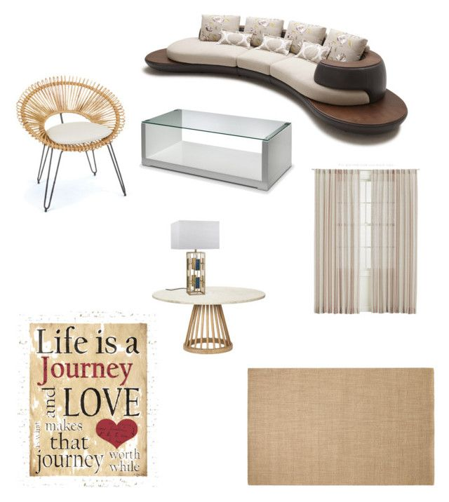"""Neutral African Living Room"" by ashleyrose2125 ❤ liked on Polyvore"