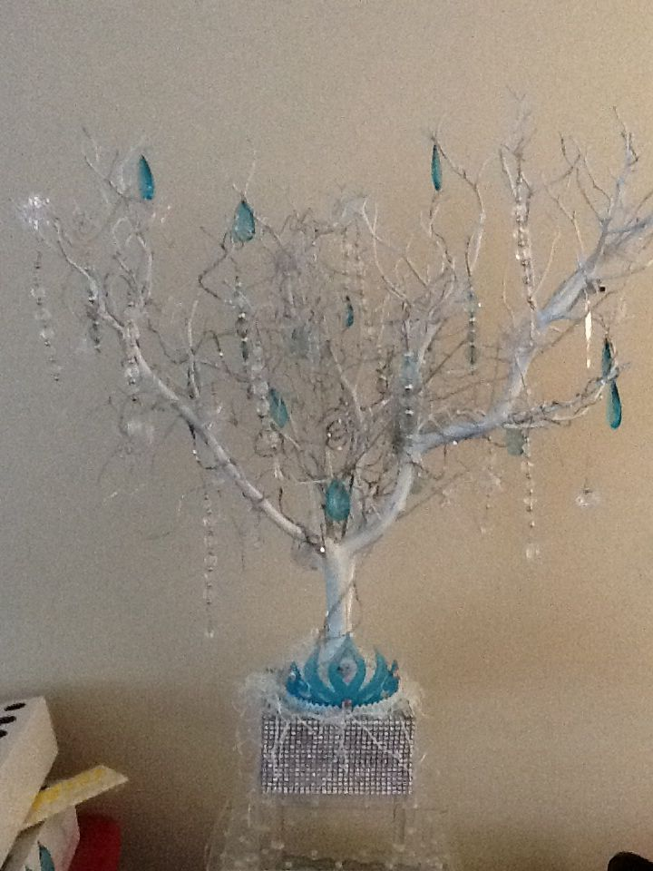 Frozen table decoration I made | Candy buffets I have done ...