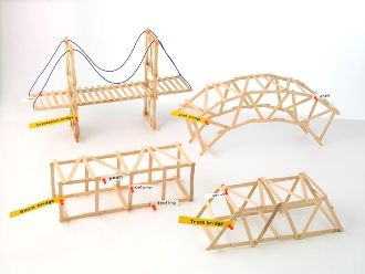 "DIY engineering / bridge lesson plan craft for kids I *still* remember doing this in 6th grade & then taking them to USC to have them ""tested"". Perhaps that's when I knew I'd marry an engineer. :)"