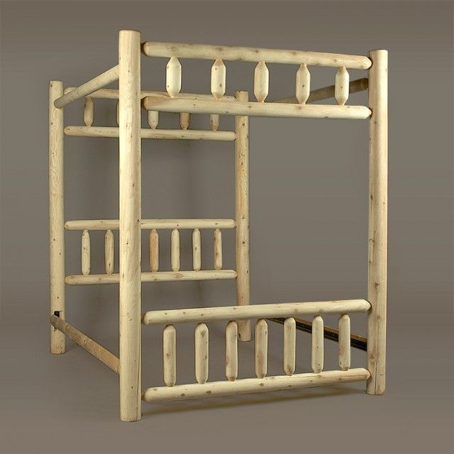 17 best images about lodge bed on pinterest log for Log canopy bed frames