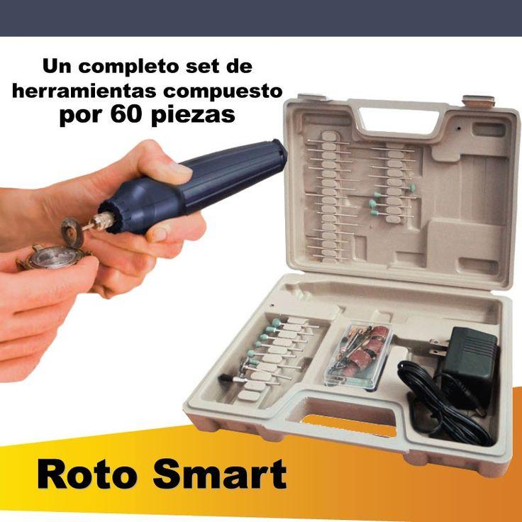 ROTO SMART  Herramienta multipropósito, Podrá perforar, limar, lustrar, pulir e incluso esmerilar y grabar con precisión. ¡Cómprela ahora! (+57) 3176404688