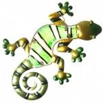 Décoration murale - Gecko vert