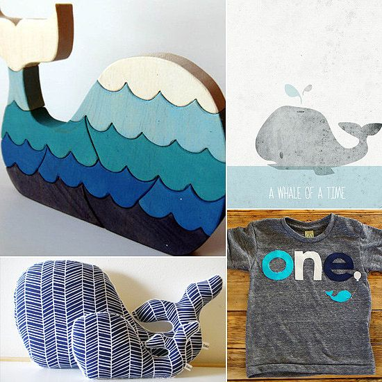 15 Fun Finds For a Whale of a Good Time! When it comes to favorite Summer motifs, whales rule the ocean blue! From the bathtub to the bedroom, there are plenty of fun ways to incorporate these beloved creatures of the sea into your kids' decor, wardrobes, and more. Thar she blows!