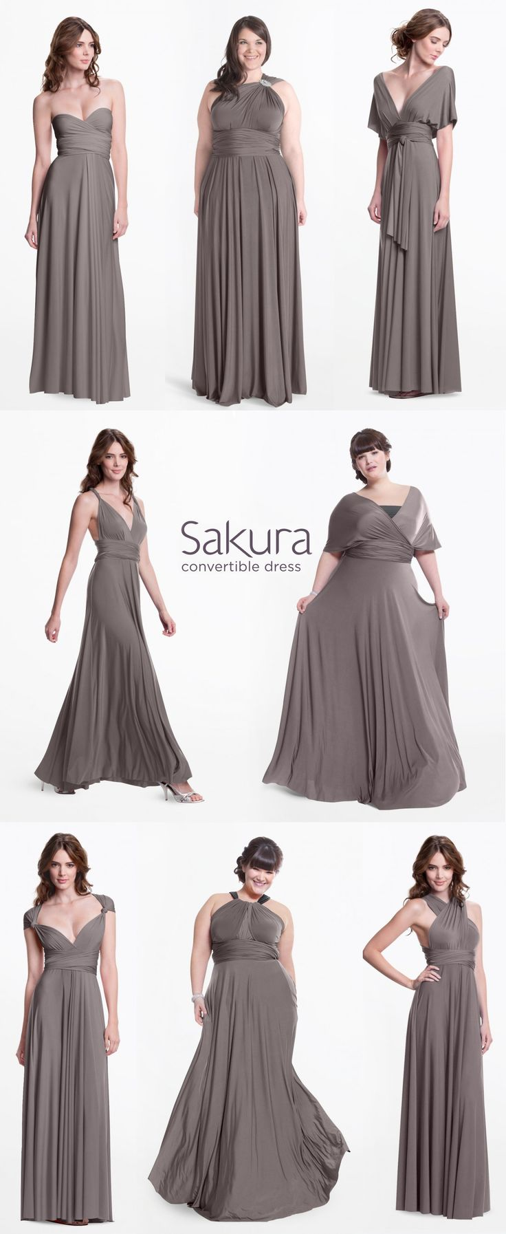 The bride can pick a color and let her bridesmaids pick their style. The perfect bridesmaid dress that you can actually wear again! www.henkaa.com