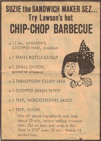Lawson's Hot Chip-Chop Barbecue Recipe