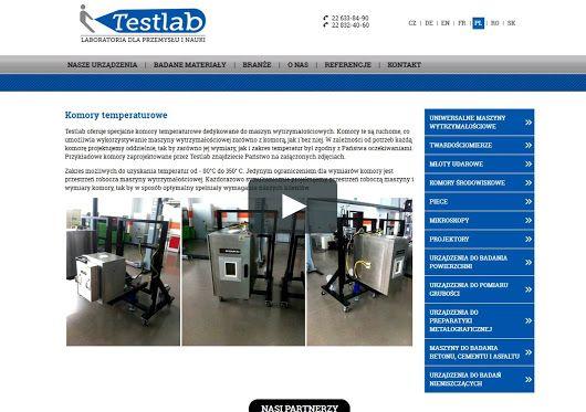 KOMORY TEMPERATUROWE http://pl.testlab.eu/produkty/maszyny_wytrzymalosciowe/akcesoria/komory_temperaturowe/