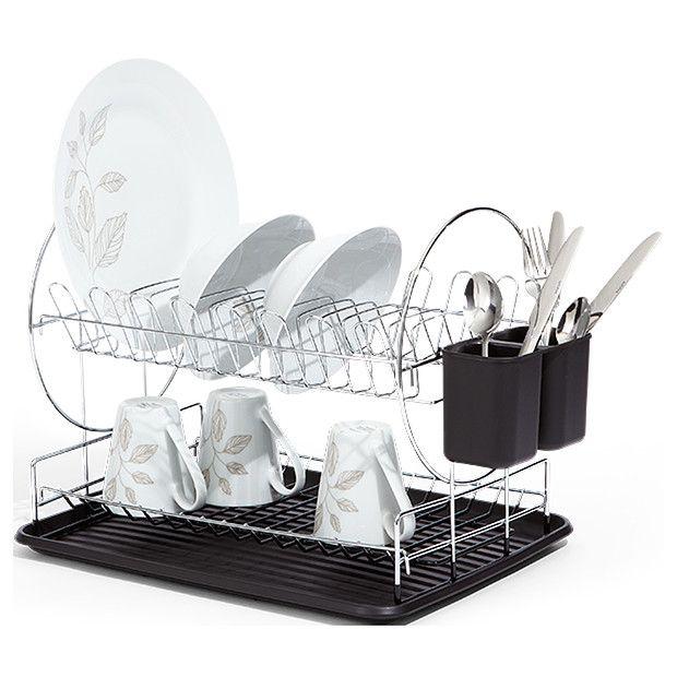 Target Chromed 2 Tier Dish Rack