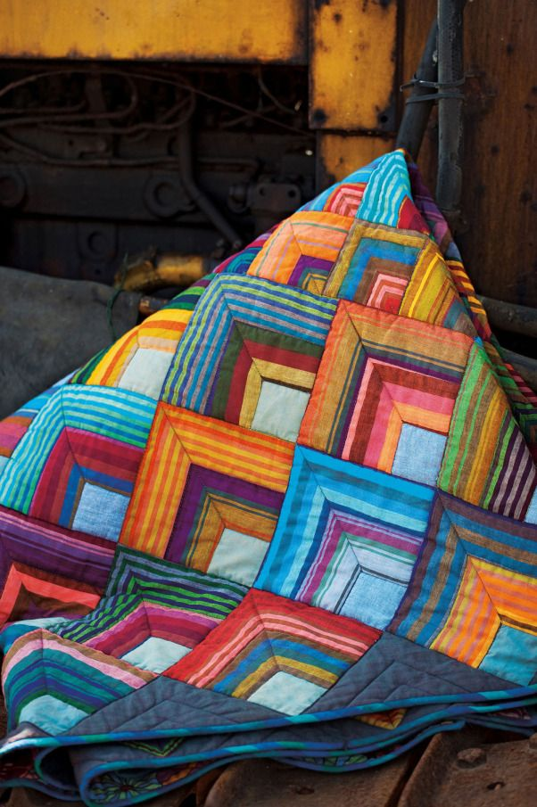 This could be a companion to the quilt in my sewing room. Start out the same…