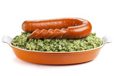 Kale, Pork and Potatoes Make a Dream Team in Holland's National Dish.: Stamppot with Curly Kale & Rookworst
