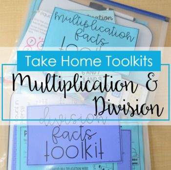 This multiplication and division practice resource contains free printables and posters for creating your own multiplication and division take home toolkits. Click here to read a detailed blog post about these printables.