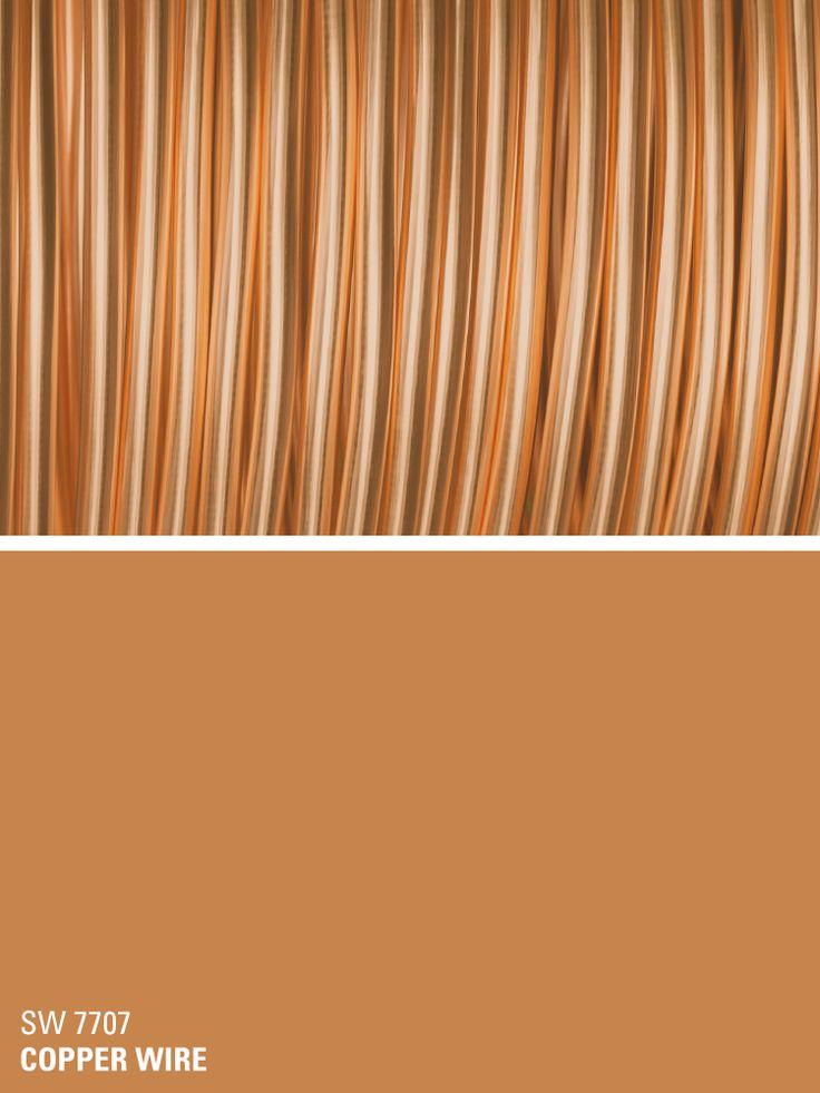 Sherwin-Williams orange paint color – Copper Wire (SW 7707)