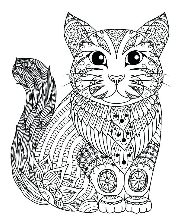 Cat Coloring Pages For Adults Best Coloring Pages For Kids Animal Coloring Pages Cat Coloring Page Zentangle Animals