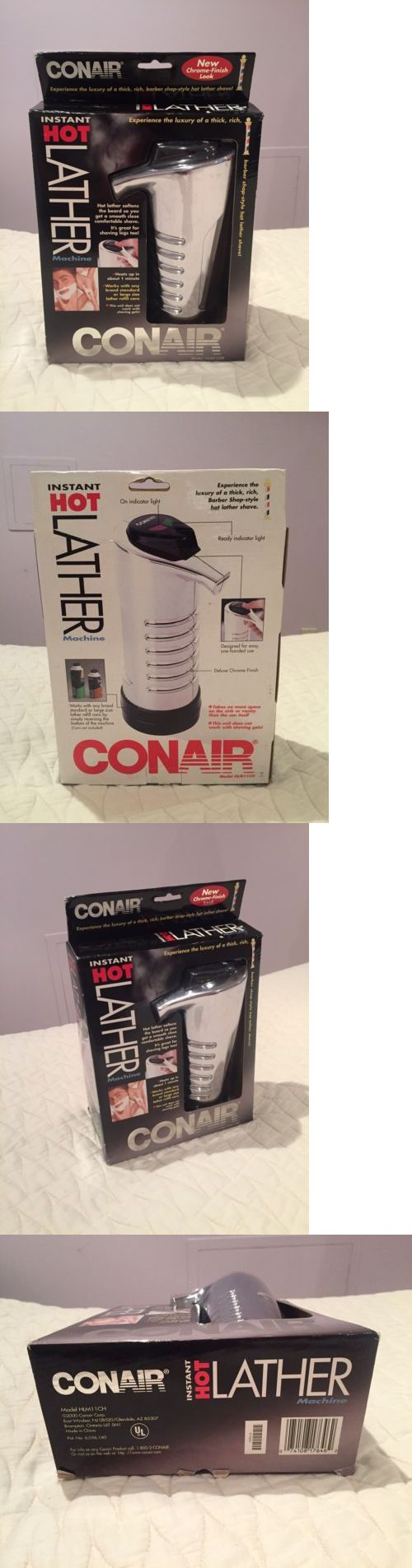 Other Shaving and Hair Removal: Conair Instant Hot Lather Machine Shaving Cream Warmer Hlm11ch New Chrome Color -> BUY IT NOW ONLY: $44.99 on eBay!